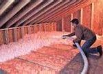 sprayed in insulation
